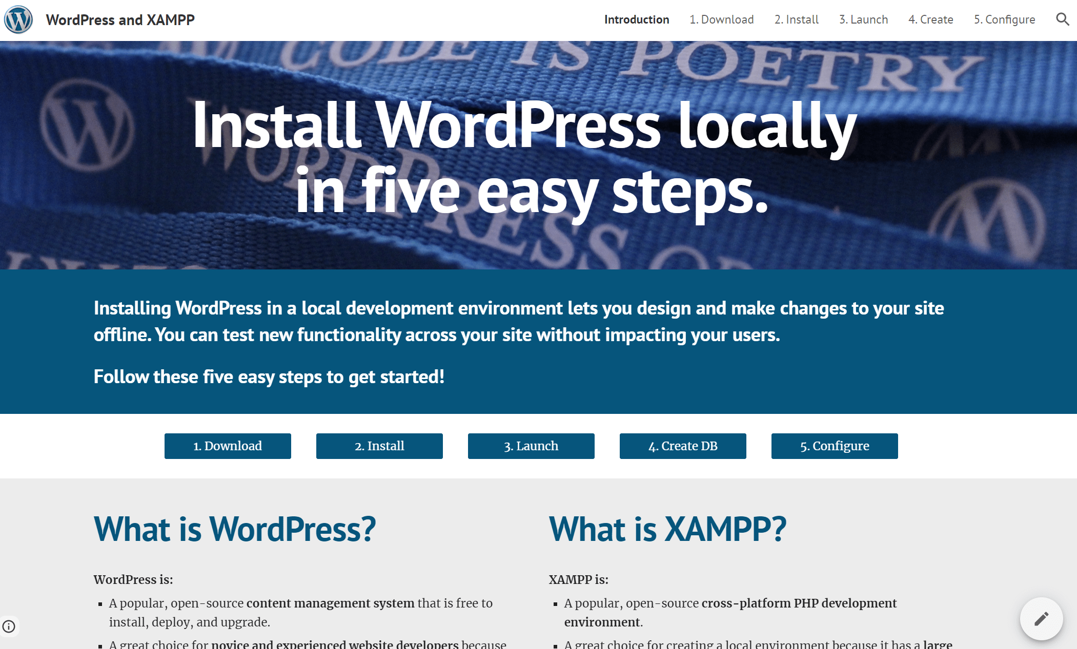 wordpress xampp site